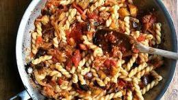 Gemelli Pasta with Eggplant and Tomato