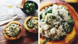 Squash Boats with Quinoa