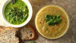 Roasted Parsnip Soup with Fresh Herb and Caper Chimichurri