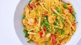 Stir-Fried Singapore Noodles