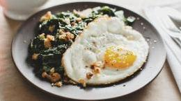 Sunny Eggs and Mustard Creamed Chard